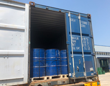 Loading Grinding Balls into Containers at Factory